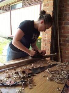 Planing wood